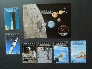 G1169  TOKELAU 1999  SPACE 30 th  ANNIVERSARY  OF MOON LANDING SET  + S/S  MNH