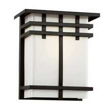 """Trans Globe Cityscape Square 9"""" Patio Light, Silver and Frosted Glass - 40202Sl"""