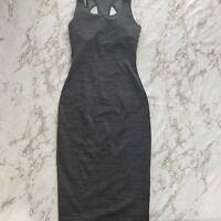 lululeon Womens gray Stripe midi dress sz 0 Mb2