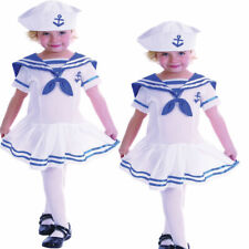 Girls Kids Toddler Sailor Uniform Fancy Dress Costume Outfit 2-3 years