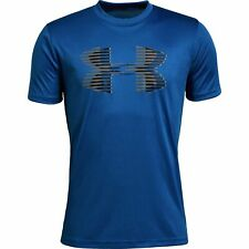 NWT Under Armour Boys Tech Big Logo Graphic Solid T-Shirt Royal Blue YLG Large