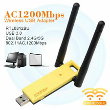 1200Mbps USB 3.0 Dual WiFi Adapter 2.4/5GHz Band WLAN Empfänger Dongle Stick KG
