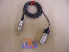Vintage Sony ECM-16T Electret lapel Condenser Microphone w/AG10, AG12 Battery