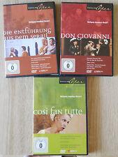 Wolfgang Amadeus Mozart.3 DVDs.Don Giovanni. Così fan tutte.