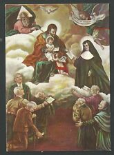 Estampa de la Santissima Trinidad andachtsbild santino holy card