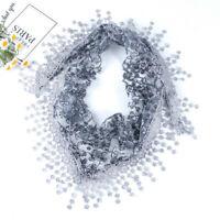 Dentelle Float Mantilla foulard écharpe Voile triangulaire Cape longue Broderie
