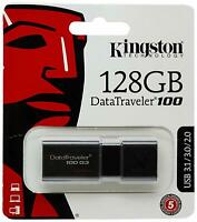 PEN DRIVE Kingston DT100G3/128 GB DataTraveler 100 G3, USB 3.0, 3.1 128GB