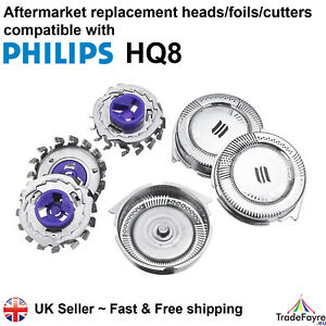 AFTERMARKET PHILIPS HQ8 HEADS/FOILS/CUTTERS - Philishave