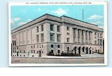 *Ararat Temple 11th and Central Street Kansas City Missouri Vintage Postcard C27
