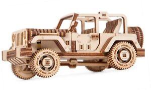 Wood Trick Mechanical 3D Puzzle. The Safari Car 4 x 4