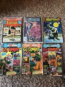 DC Comics War Horror 7 Issue Lot Swamp Thing 1 Tarzan 100 GI Combat