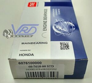 MAIN SHELL BEARINGS STD HONDA ACCORD PRELUDE 1.8 2.0 2.2 16V F18B F20B F22B