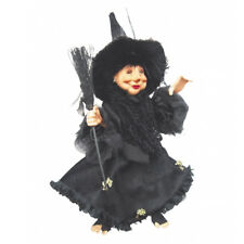 Witches of Pendle - Rosemary Kitchen Witch Hanging or Sitting (Black) 35cm