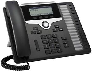 "Cisco CP-7861-K9 7861 IP VOIP POE 16 Line Telephone W/ 3.5"" Grayscale Display #B"