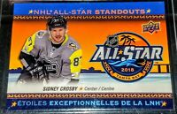 2018-19 Sidney Crosby UD Tim Hortons NHL All-Star #AS-2 Pittsburgh Penguins