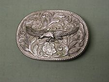 Flying Eagle with Flowers & Vines background Buckle, Very Nice, NEW.