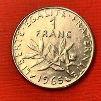 #4592 - 1 franc 1965 Semeuse SPL - FACTURE