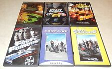 Fast & Furious 1 2 3 4 5 6  (DVD, 6 Discs) WS/FS Vin Diesel Paul Walker Racing