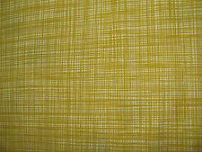 Orla Kiely Scribble Olive150cm / 35cm fabric cotton mustard yellow cross hatch