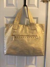 GIVENCHY PARFUMS PARIS Gold BAG HANDBAG TOTE SAC VGUC