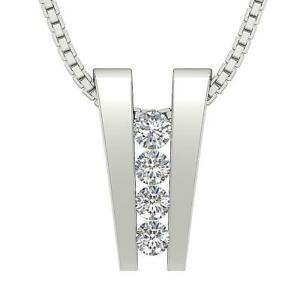 Natural Diamond SI1 G 0.35 Ct Cluster Pendant Necklace 14K Rose Gold Appraisal