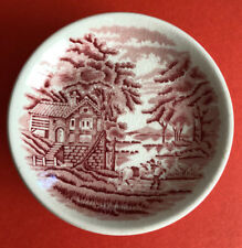 Vintage Enoch Woods Ware English Scenery Red - Wood & Sons Rare Miniature Plate