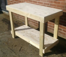 MC Timber Products 6ft Heavy Duty Work Bench 1.8m Solid Wood Top Strong /& Sturdy
