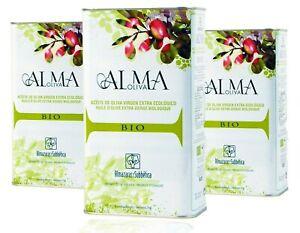 BIO Alma Oliva Extra Natives Kaltgepresstes Natürlich Olivenöl Säure 0,18 / 3L