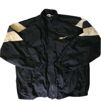Vintage 90s Reebok Mens XL Big Logo Full Zip Windbreaker Jacket Blue White