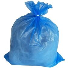 PlasticMill 65 Gallon, Blue, 1.5 Mil, 50X48, 100 Bags/Case, Garbage Bags.