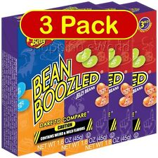 3 Pack BEAN BOOZLED 1.6oz Jelly Belly ~ Weird & Wild Flavors ~ Party Candy
