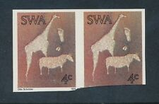 SOUTH WEST AFRICA 1974 ROCK ENGRAVINGS 4c IMPERF PAIR PROOF UM TRIM on ONE STAMP