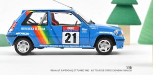 Renault 5 Supercinq GT Turbo 1990 #21 Tour de Corse Cirindini/ Norev 1:18 🤩🤩