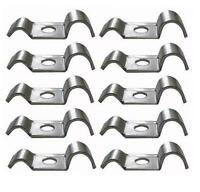 Ten Metal Brake Pipe Clips BZP To suit 3/16 and up to 5/16 Brake Hose Clips Auto