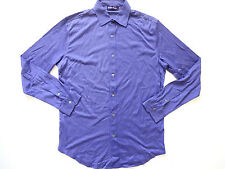 New Ralph Lauren Purple Label Italy Lavender 100% Soft Cotton Button Up Shirt L