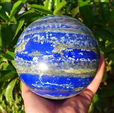 7.49LB High Quality Natural Polished Blue LAPIS CRYSTAL Sphere Ball healing R8#