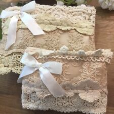 Beautiful Cream Lace Front Pouch (TWO SIZES)