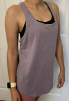Lululemon Size 6 Love Tank Pleated Violet VIVB Pima Run Speed Layer Knot Yoga