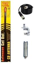 NEW FIRESTIK KW2,  KW2 B 2FT BLACK CB ANTENNA, 18FT COAX, MOUNT, SPRING