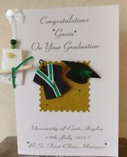 Personalised Graduation Card Son/Daughter & Real Scroll GIFT BOXED-Green ribbon