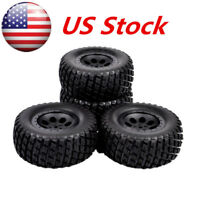 4 pcs 12mm Hex Short Course Truck Tires&Wheel For HPI 1:10 RC TRAXXAS SLASH Car