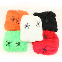 Scary Spooky Halloween Stretch Spider Web Haunted House Webbing Party Decoration