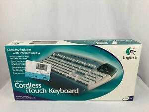 Brand New Logitech Cordless iTouch Keyboard 967018-0403 Grey Rare