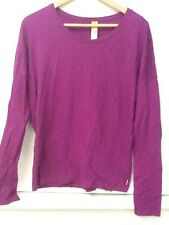 Lucy Long Sleeved Purple Shirt Fitness Athletic Apparel 100% Cotton M Medium
