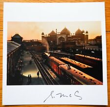 "SIGNED - STEVE MCCURRY - AGRA STATION INDIA LTD 6"" x 6"" MAGNUM ARCHIVAL PRINT"