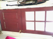 """Vtg Solid Wood Dutch Door 6 Lite 31.5"""" x 78"""" Shabby Cottage Entryway Old 495-20E"""
