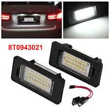 For Audi A1 A3 A4 S4 A5 Q5 A6 A7 LED Licence Number Plate Light Lamp Error Free