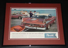 1959 Plymouth 11x14 Framed ORIGINAL Vintage Advertisement Poster