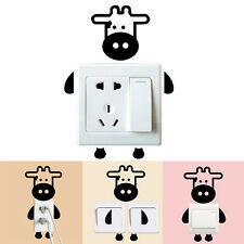 Cow Switch Wall Sticker Cute Calf Baby Kids Bedroom Home Decal Decoration L5r