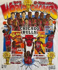 Mint Condition 1993 Chicago Bulls 3 Time World Champs Championship T-Shirt XL
